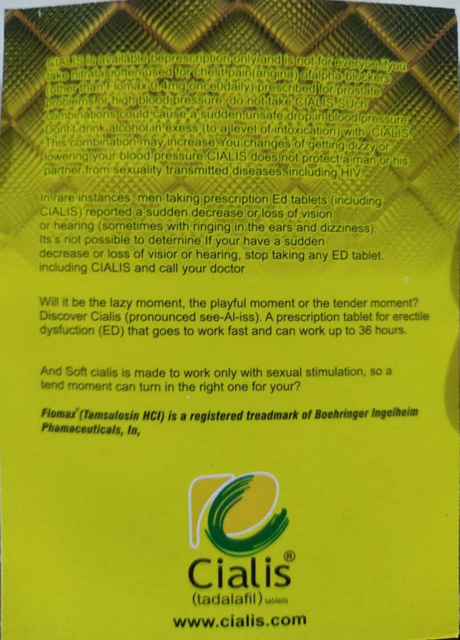 Buy Cialis 20 Mg Tadalafil Original Tablets In Pakistan
